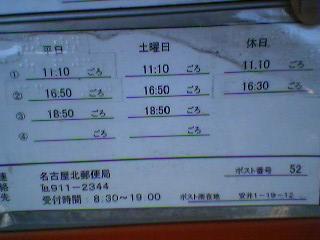 ポスト写真 : 2008年1月13日撮影 : 名古屋金田郵便局の前 : 愛知県名古屋市北区安井一丁目19-12