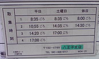ポスト写真 :  : 八王子大横郵便局の前 : 東京都八王子市大横町2-1
